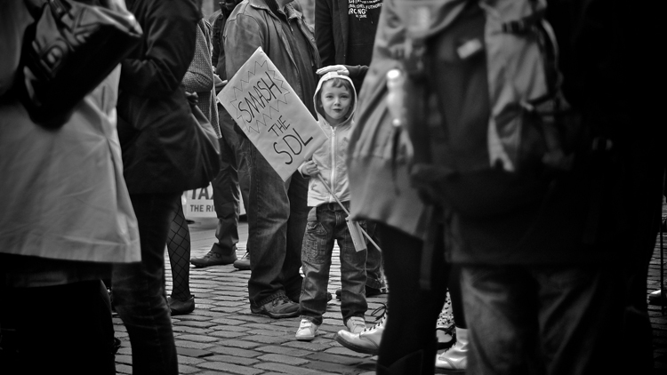 smash the sdl kid protest
