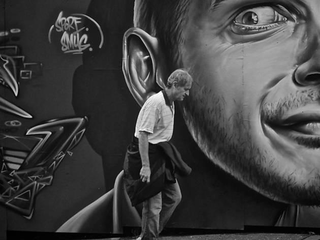 street art pedestrian