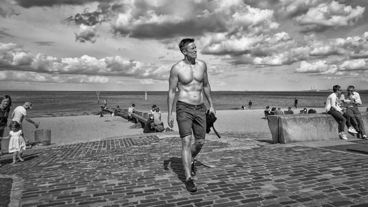 portobello beach sunbather
