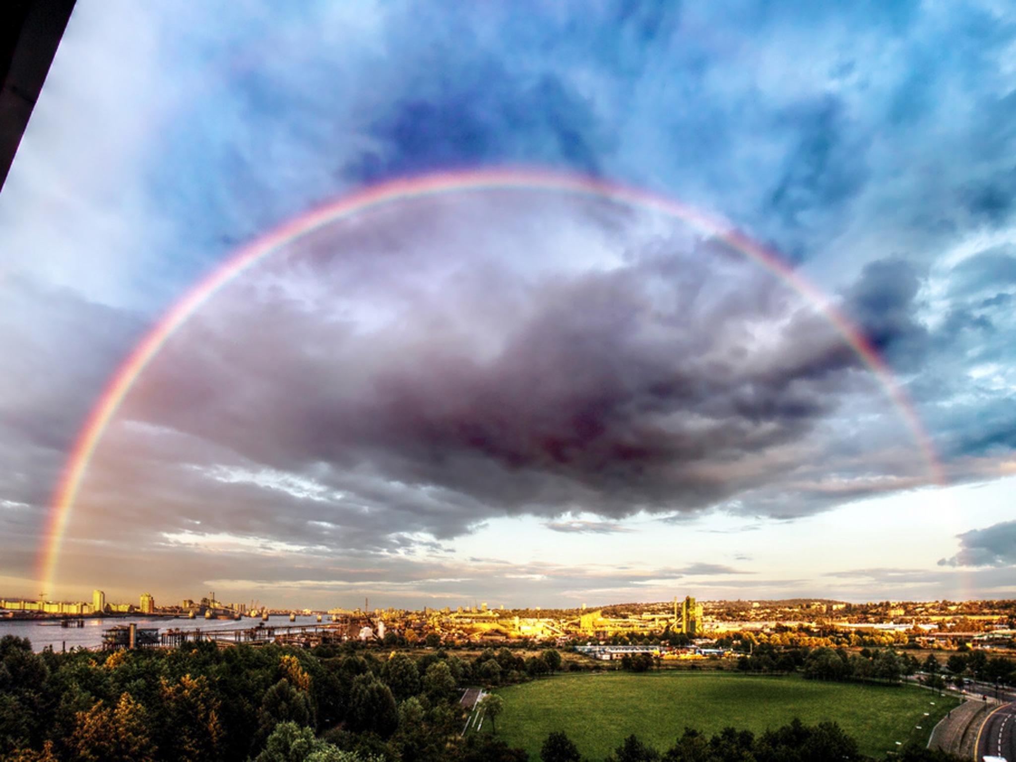 Rainbow over London