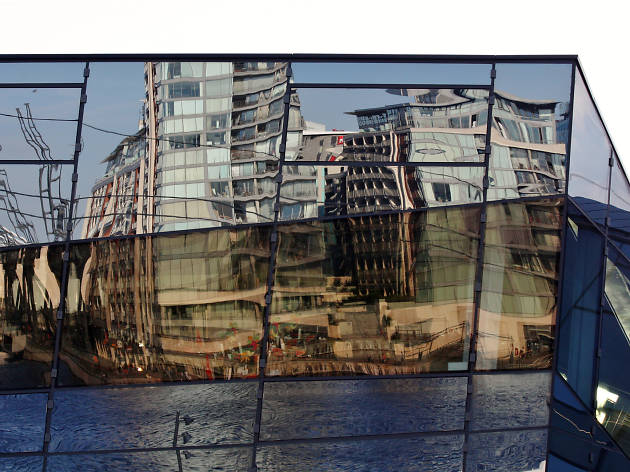 Siemens Building - reflections of the London docks