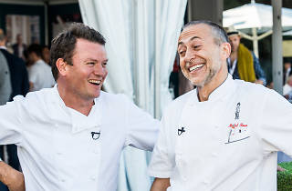 Theo Randall and Michel Roux Jr at Taste of London festival
