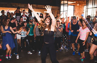 Go to an early morning yoga and dance party at Saks Fifth Avenue next week