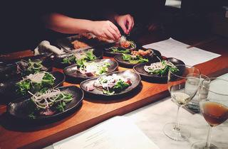 Sherry pairing dinner at Bincho