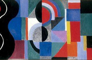 (Sonia Delaunay: 'Syncopated Rhythm (The Black Snake)', 1967. © Pracusa 2013057)