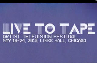 Live to Tape Artist Television Festival
