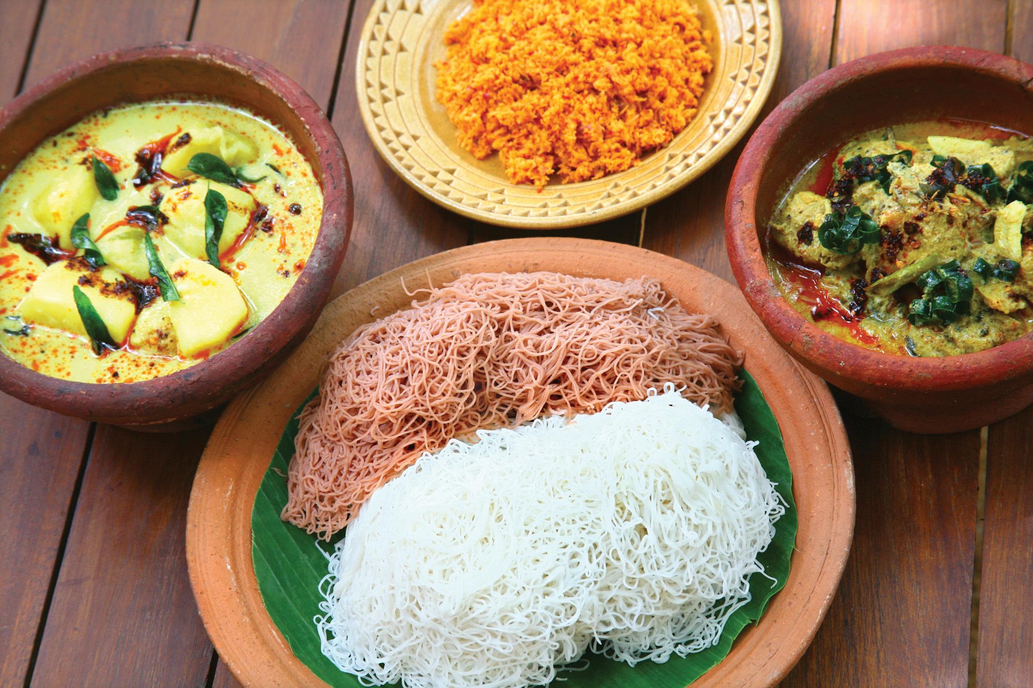 A scrumptious Sri Lankan meal