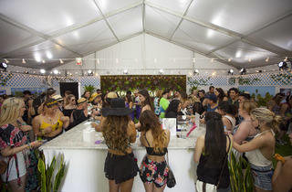 Coachella freebies at the Sephora Collection tent