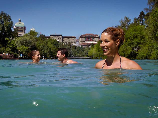 bern, swimming, switzerland