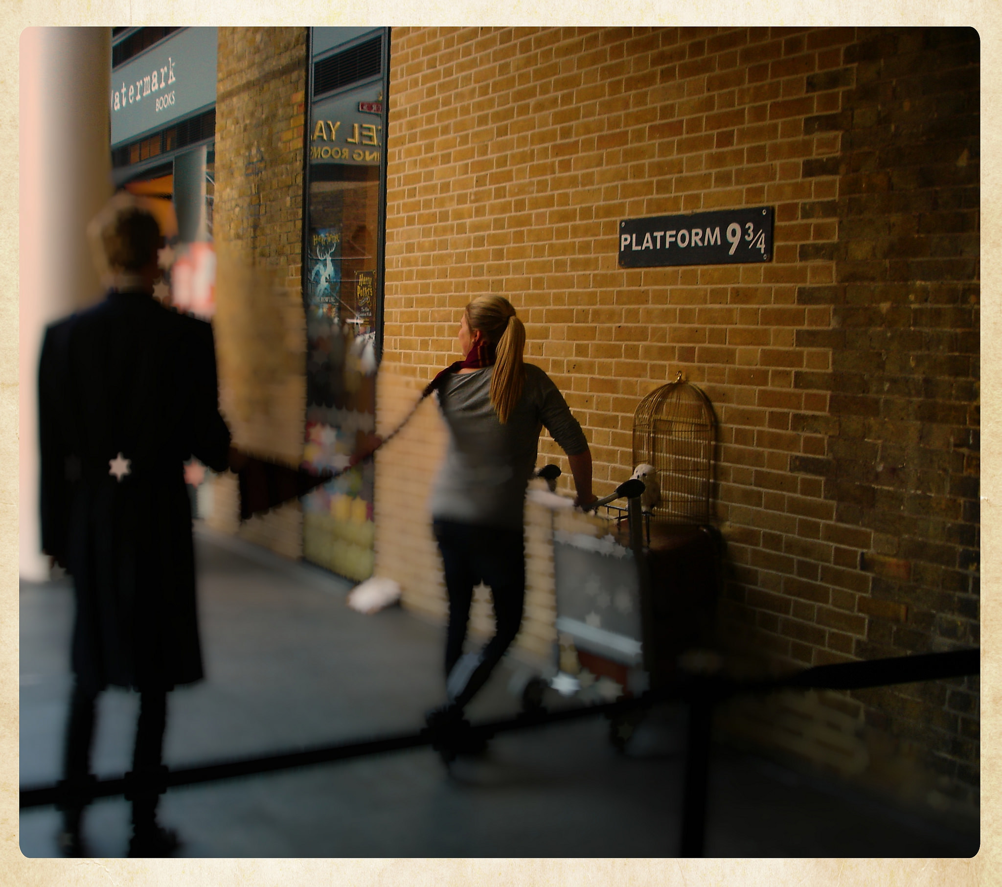 Platform 9¾ at King's Cross Station, London