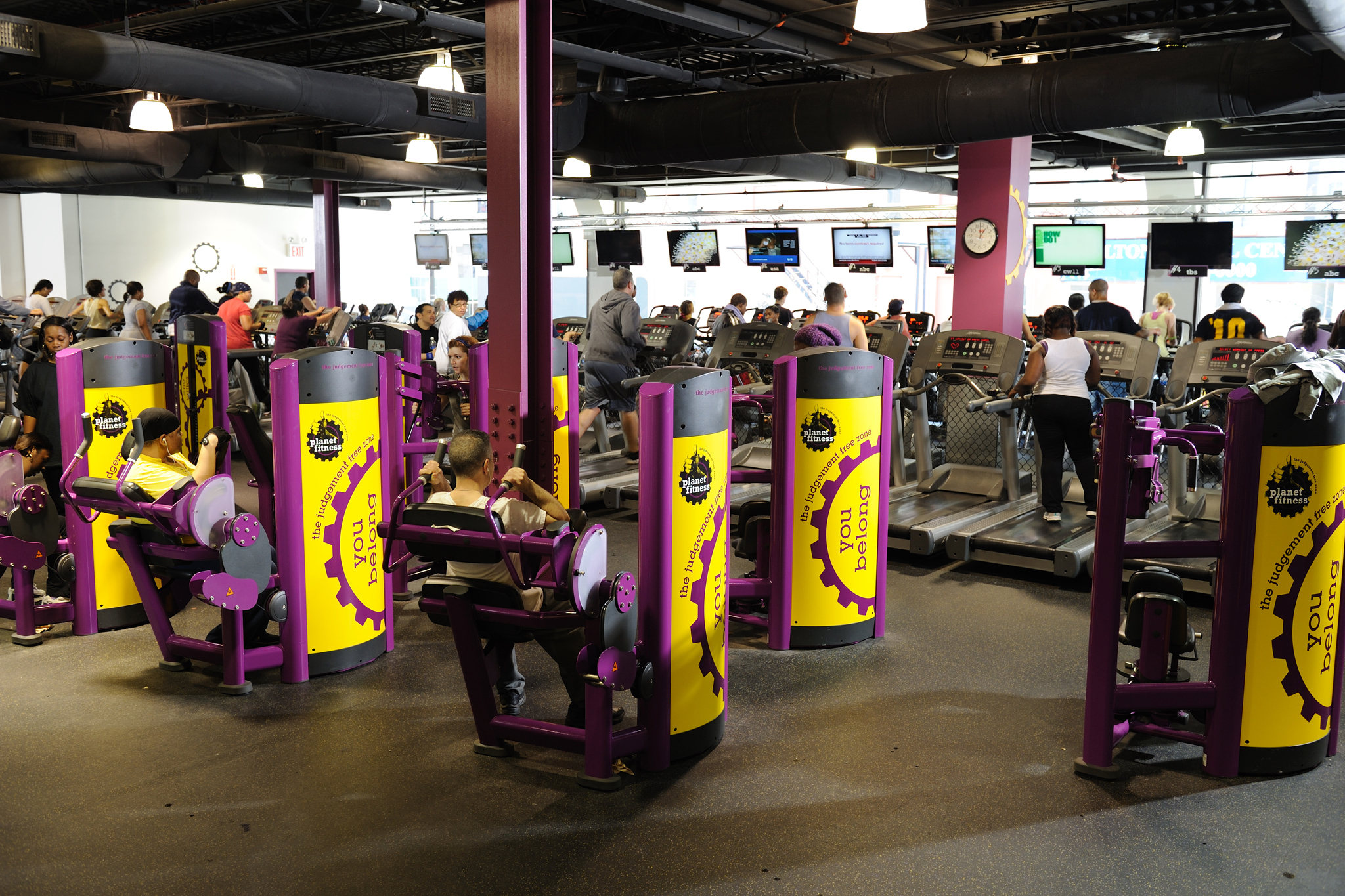 photograph courtesy planet fitness