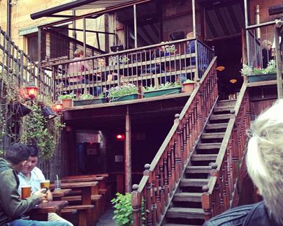 Chinaski's beer garden