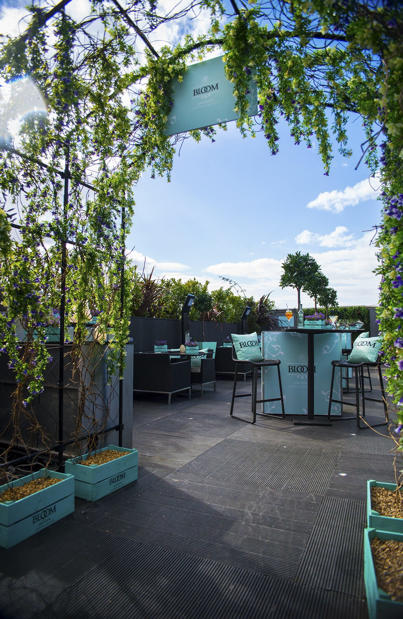 The Bloom Gin Rooftop Bar at Vista