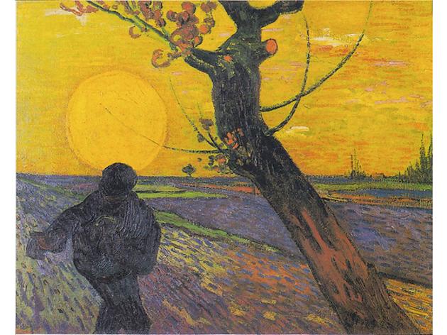 Vincent Van Gogh : Le Semeur au soleil couchant, 1888