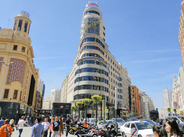 1. Walk along the Gran Vía