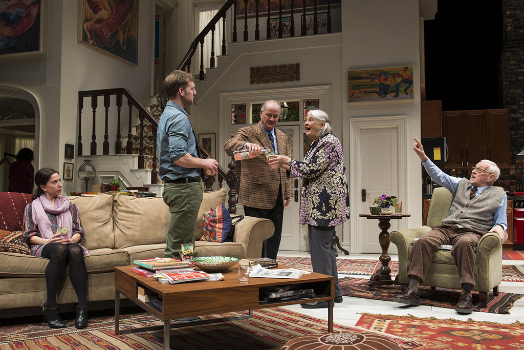 Audrey Francis, Cliff Chamberlain, Francis Guinan, Lois Smith and John Mahoney in The Herd at Steppenwolf Theatre Company