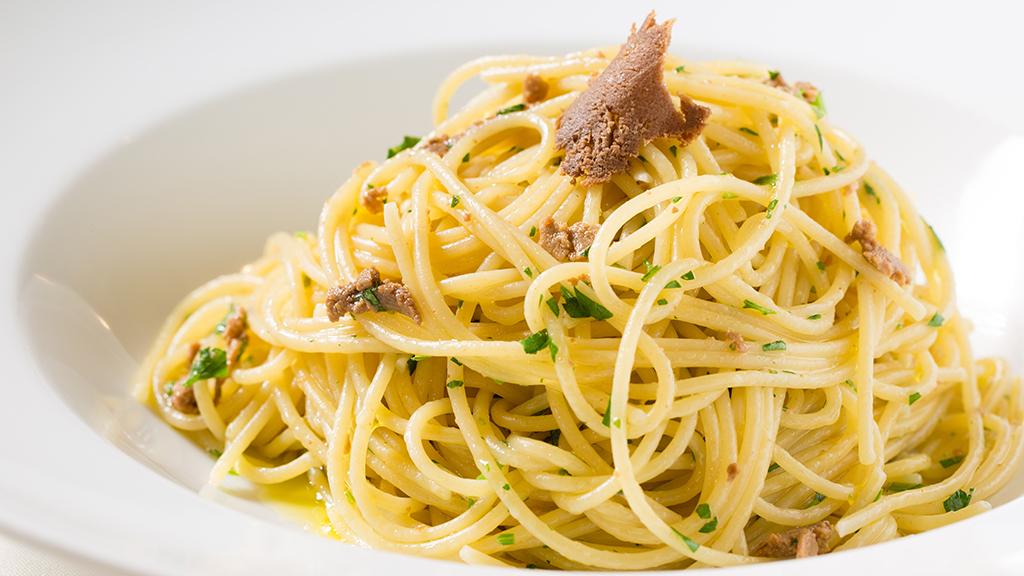 Spaghetti alla bottarga at Celestino