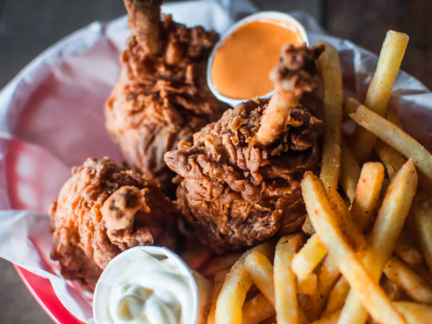 Mother Clucker fried chicken and chips