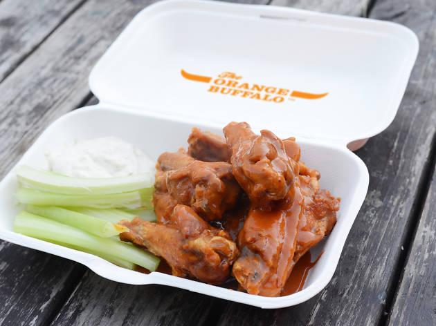 The Orange Buffalo chicken wings, London