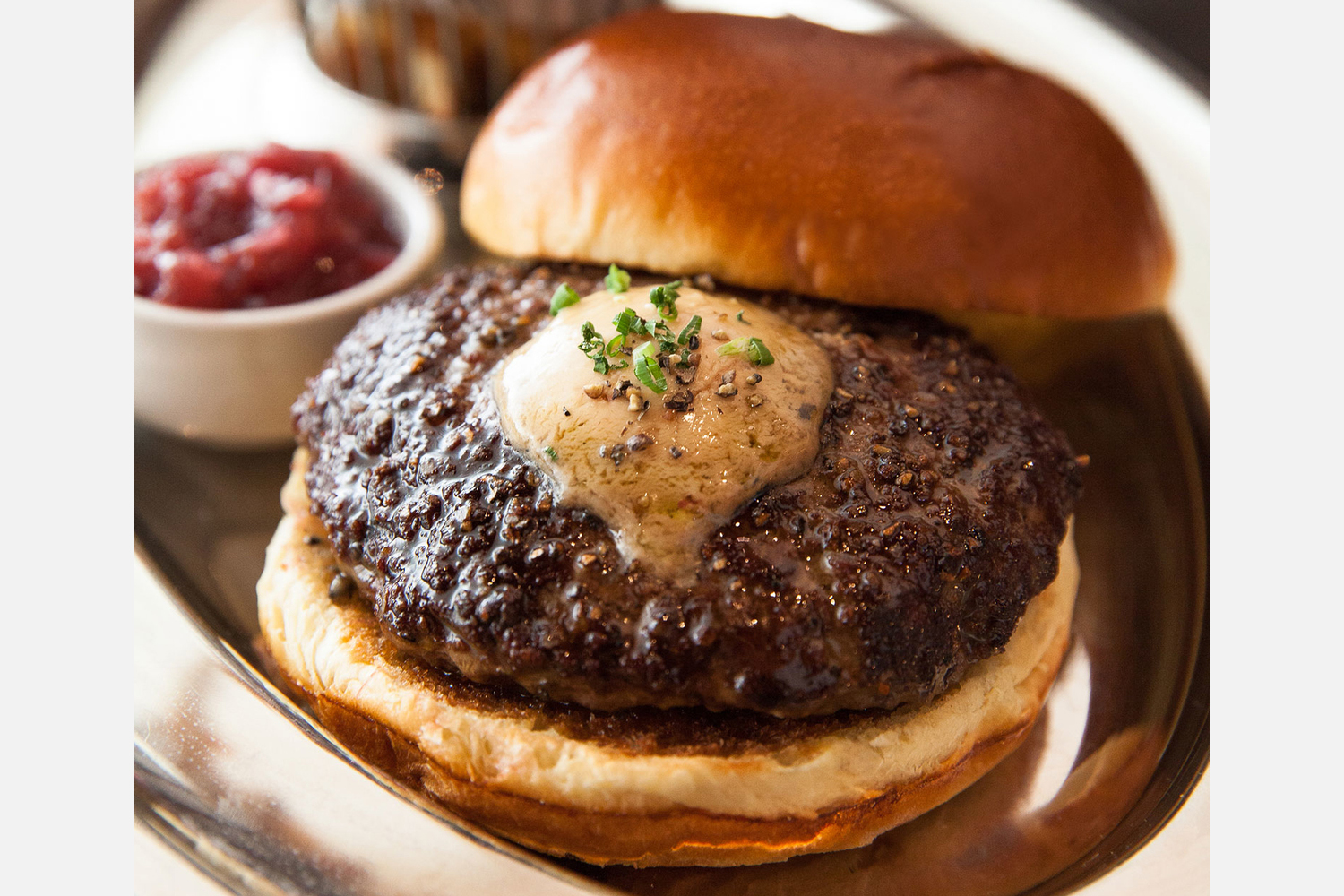 Black Truffle Burger at RPM Steak