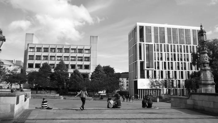 Bristo Square at Edinburgh University