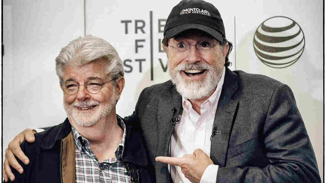 10 things we learned at Tribeca's live chat between Stephen Colbert and George Lucas