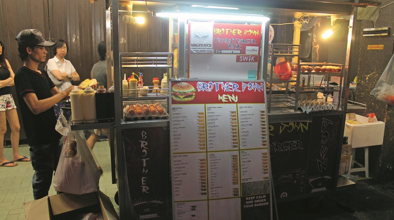 Brother John Burger stall