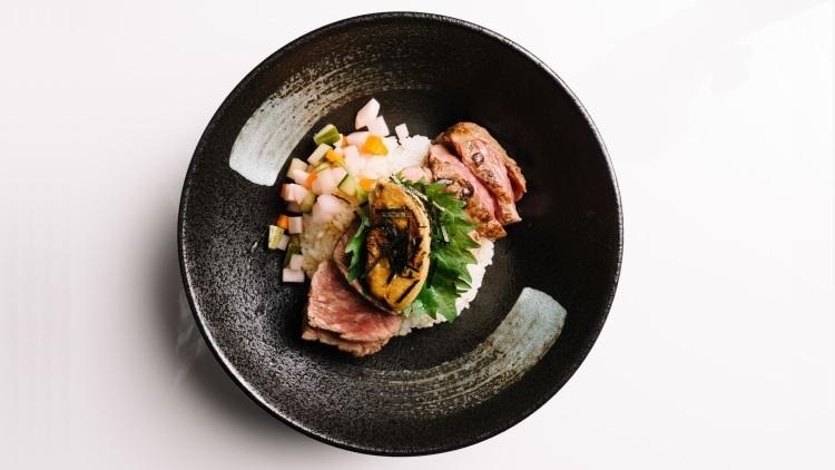 Steak and foie gras donburi