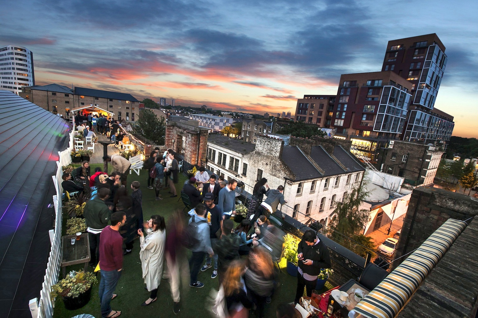 Rooftop parties in London