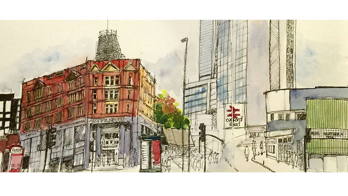 21 sketches of Manchester by Liz Ackerley