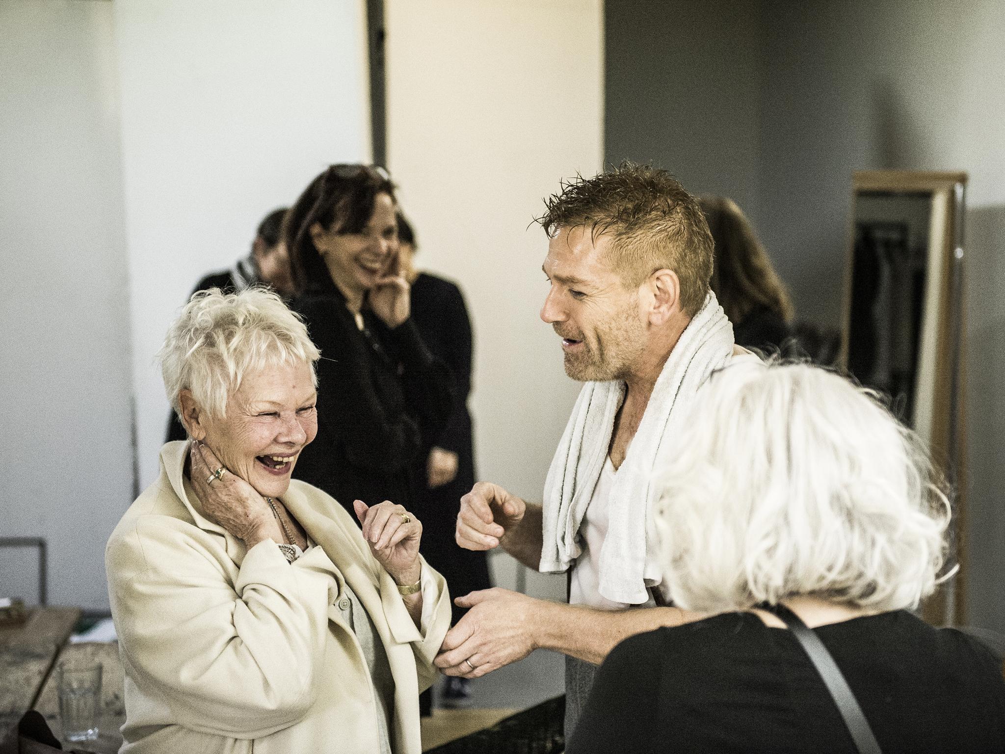 Kenneth Branagh and Judi Dench backstage