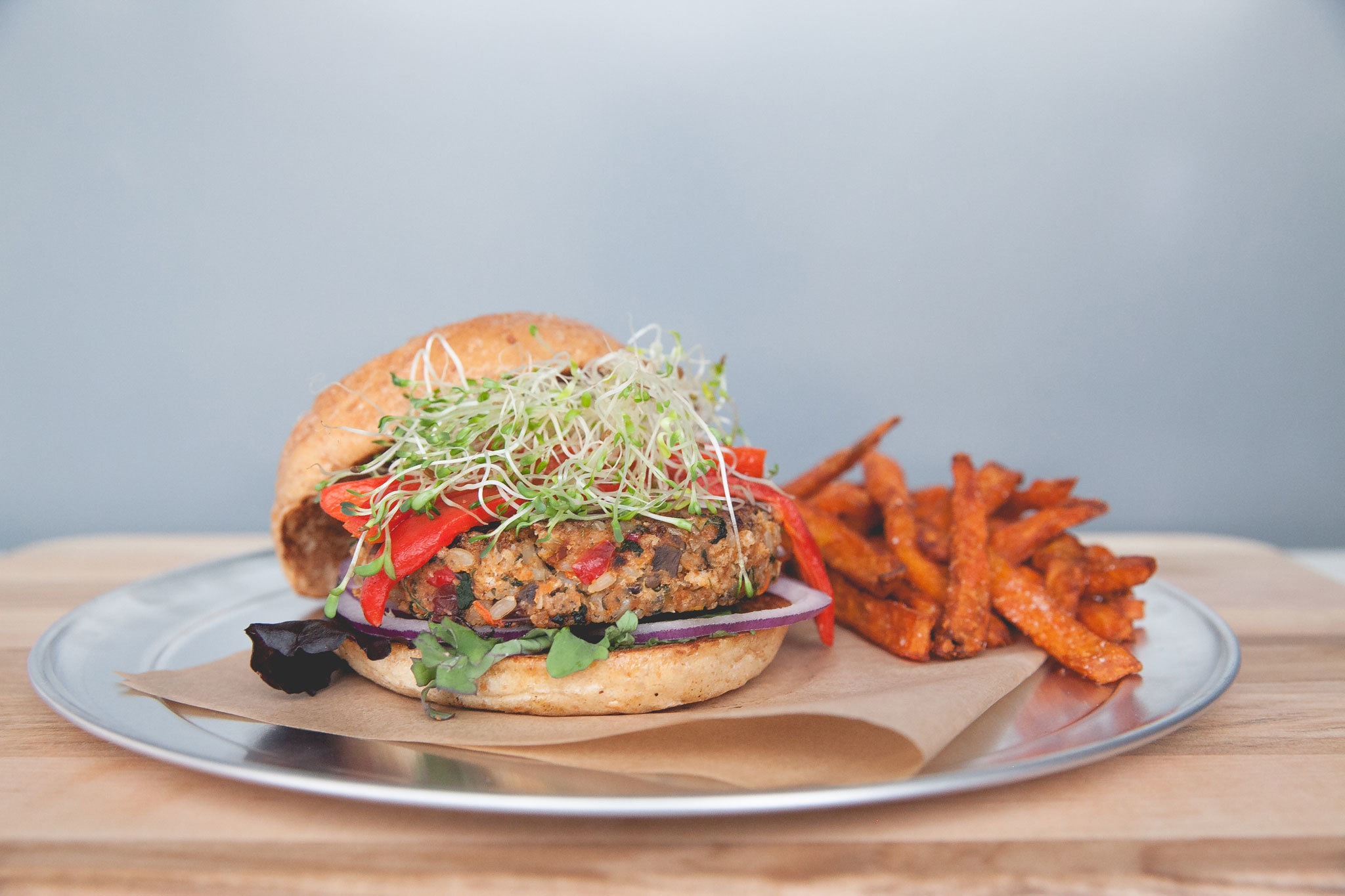 Veggie burger at The Counter
