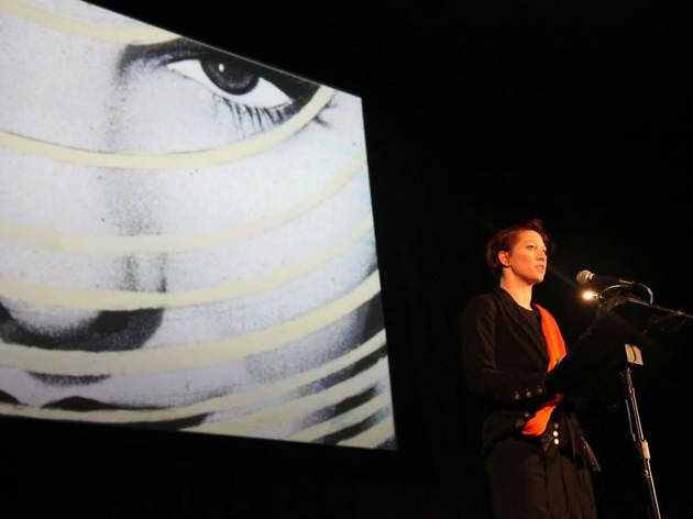 Image of Amanda Palmer at a talk