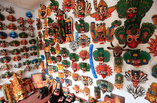 A mask shop in Ambalangoda