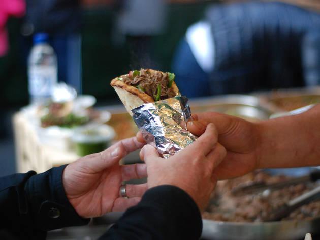 Gourmet Goat wrap, Borough Market
