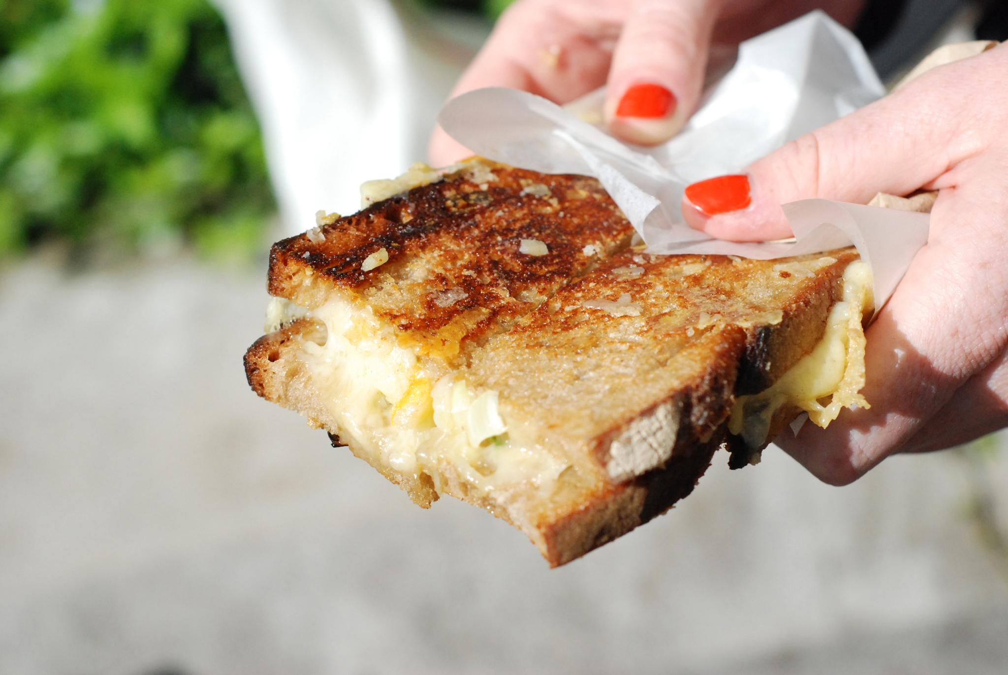 Kappacasein cheese sandwich