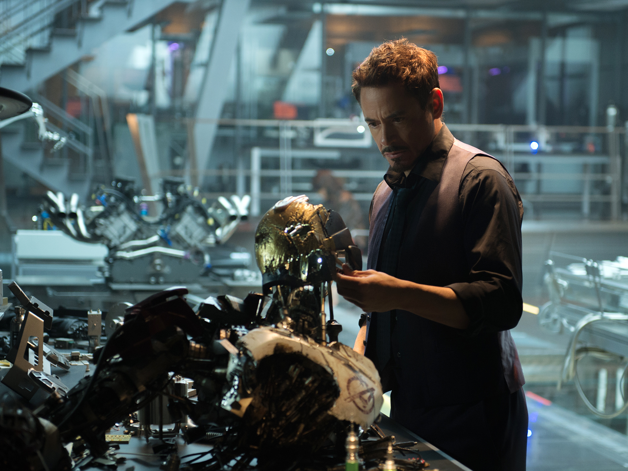 Robert Downey Jr in 'Avengers: Age of Ultron'