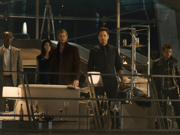 Robert Downey Jr and other in 'Avengers: Age of Ultron'