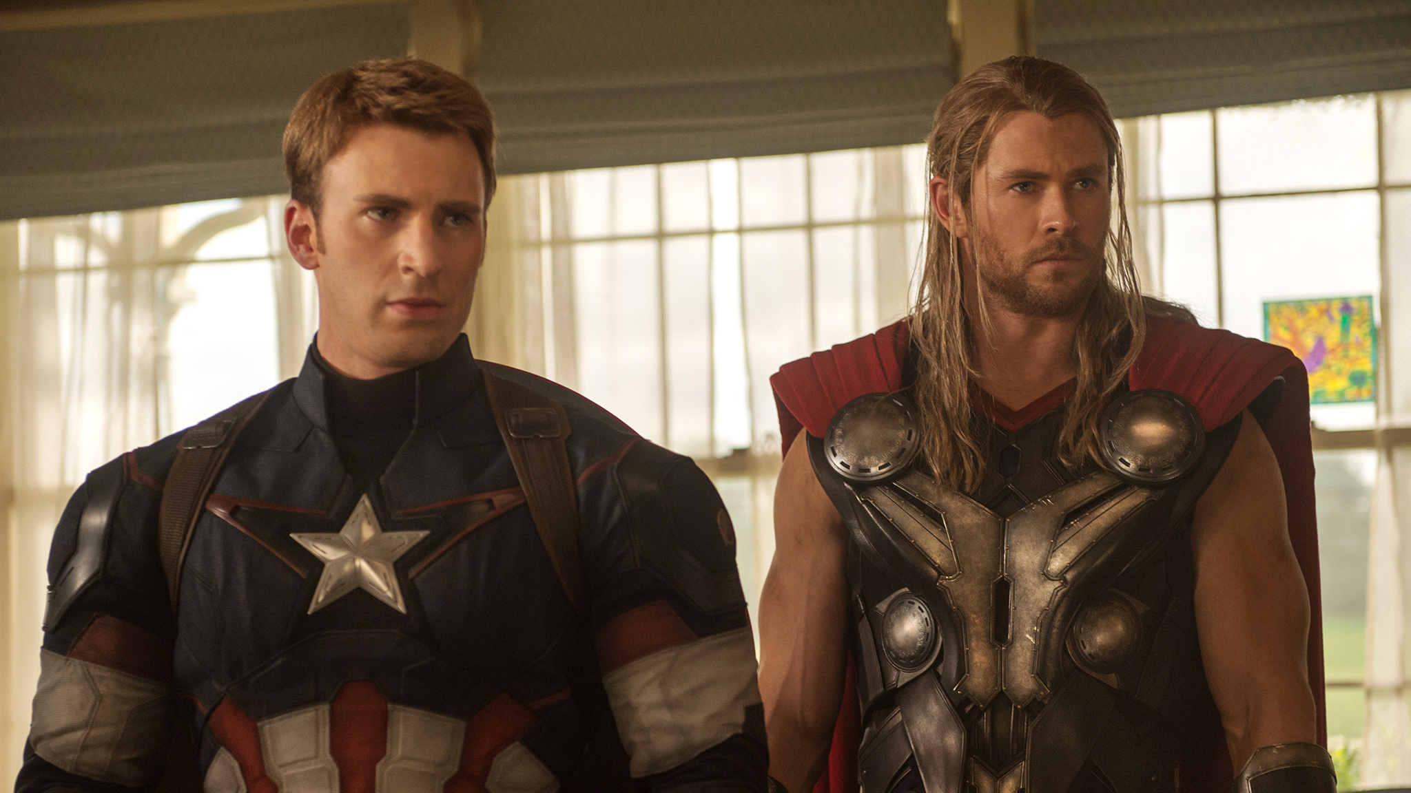 Captain America and Thor in 'Avengers: Age of Ultron'