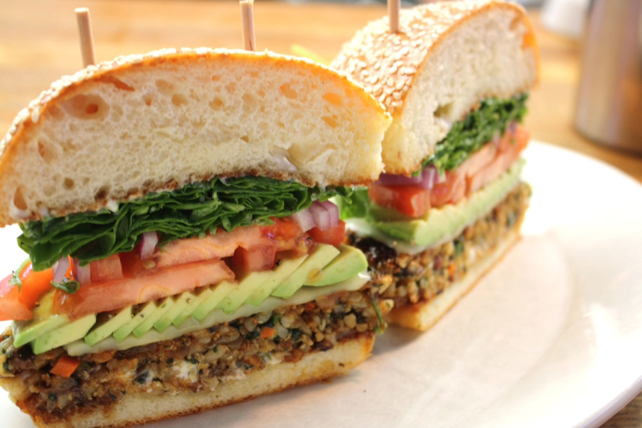 Best veggie burgers in Los Angeles restaurants