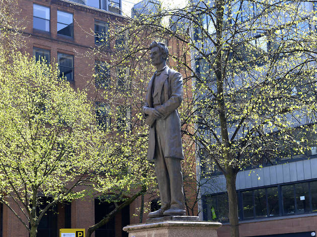 Statue of Abraham Lincoln at Lincoln Square
