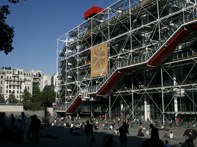 Centre Georges Pompidou, dans le IVe arrondissement de Paris, Ile-de-France.