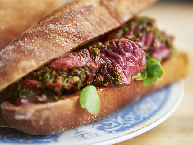 Steak and chimichurri sandwich from The Beefsteaks
