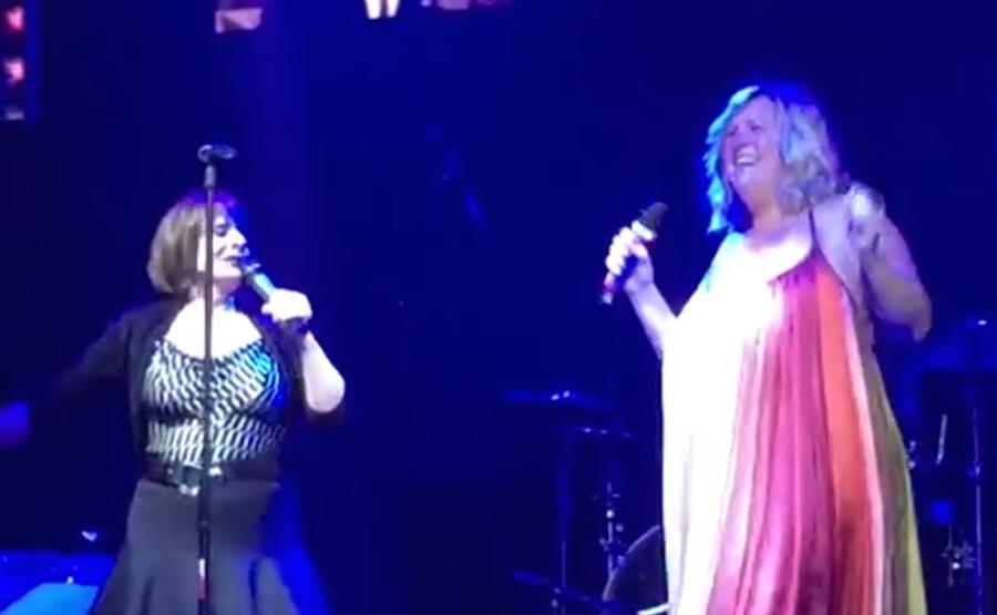 Duet with superdivas Patti LuPone and Bridget Everett
