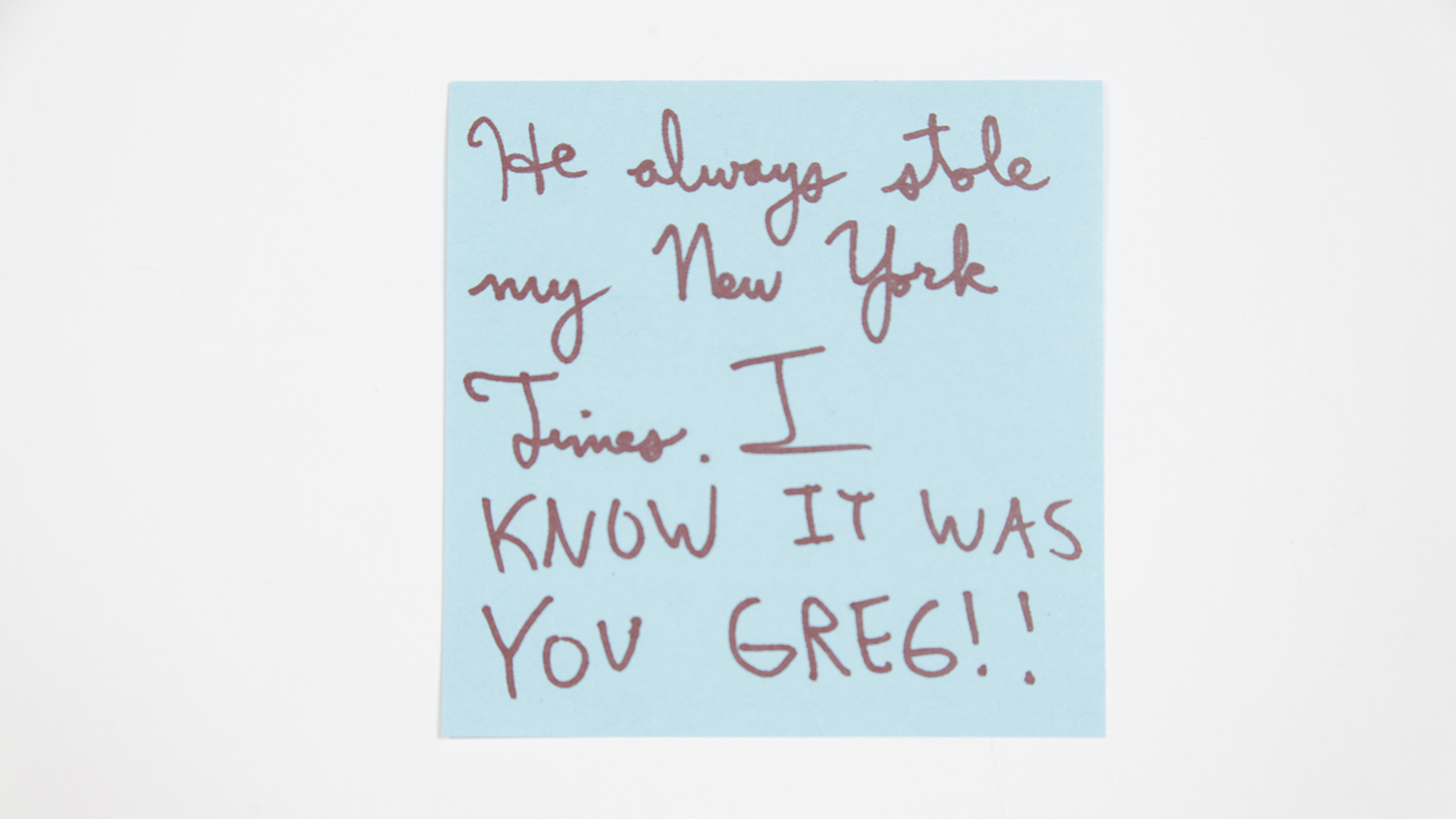 Sticky-note confessions: New Yorkers share their worst neighbor experiences