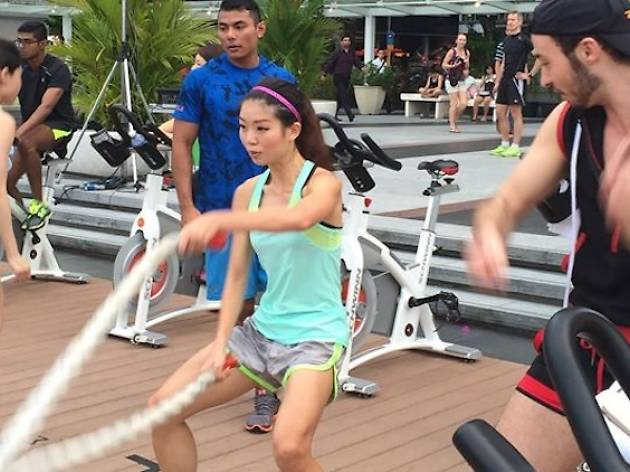 Cardio Party at Armour@TheBay Robinsons Orchard Edition