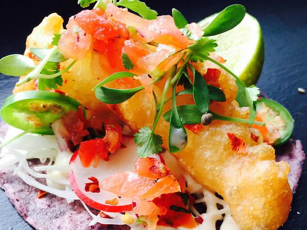 Breddos baja fish tacos street food
