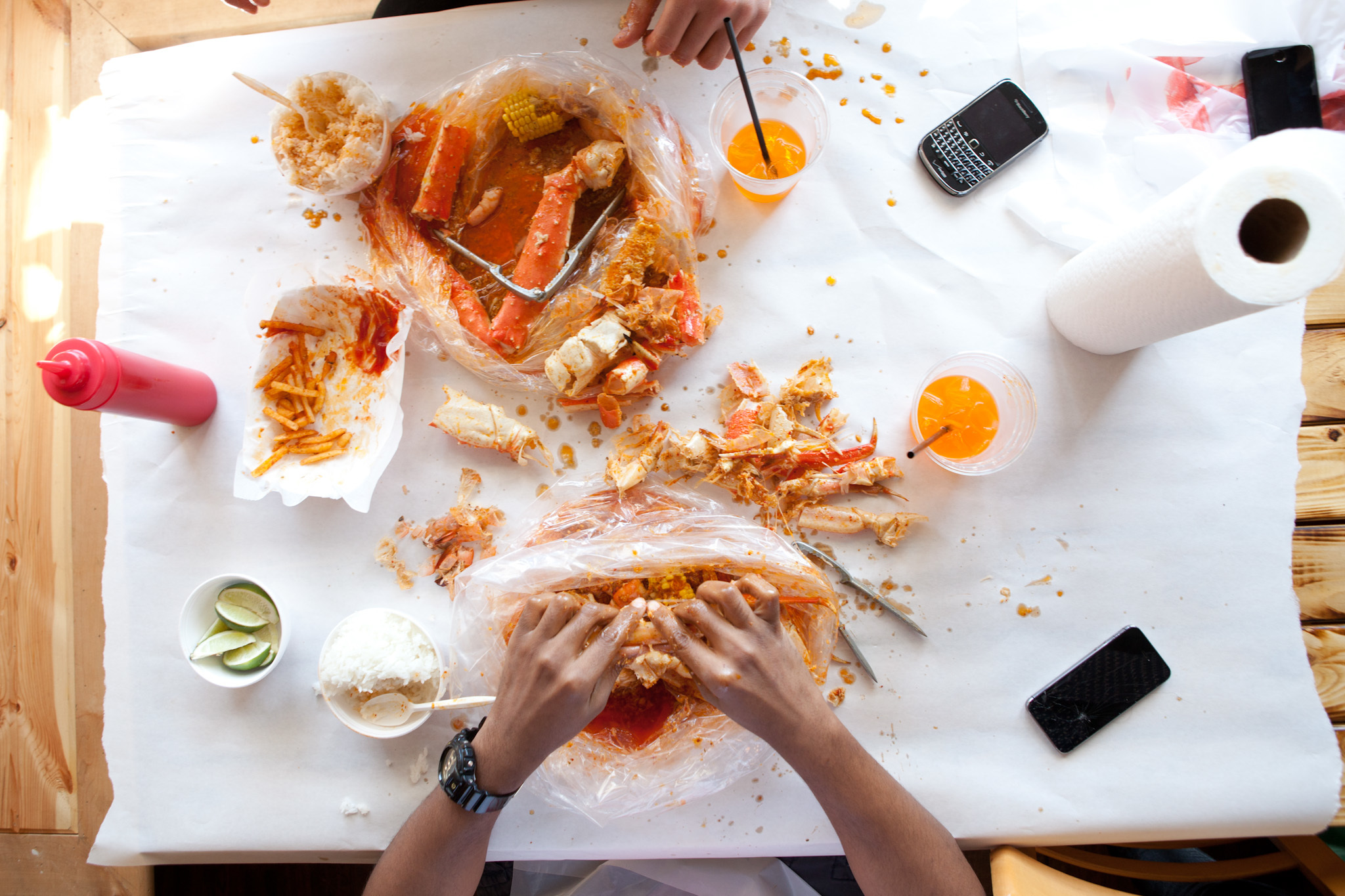 <p>Dungeness crab is on the menu at the Angry Crab.</p>