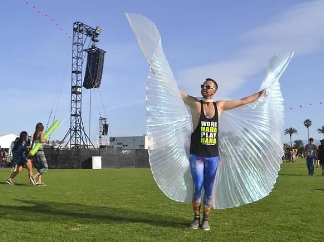butterfly wings, coachella
