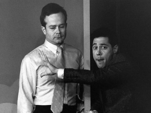 Second City's Kevin Frank with Bruce Pirrie in SC Toronto's 1985 show 'It Came from Chicago'